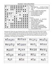 Notenkreuzworträtsel im Bassschlüssel 3