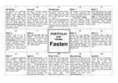 Fastenportfolio - Unterrichtsvorschlag