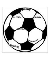 Steckbrief Klassenzimmertür Fußball