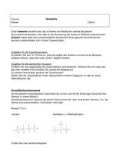 Gruppenpuzzle Isomerie