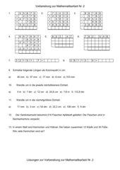Vorbereitungen zur Mathematikarbeit 5 Klasse