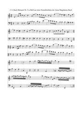 J. S. Bach Notenbüchlein für Anna Magdalena Bach Nr. 9 Menuett a-Moll