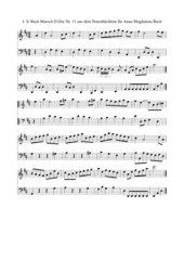 J. S. Bach Notenbüchlein für Anna Magdalena Bach Nr. 11 Marsch D-Dur