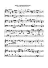 Robert Schumann Album für die Jugend Nr. 15 Frühlingsgesang