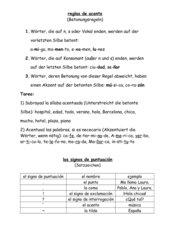 Akzentregeln und Satzzeichen
