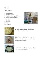 Pizza - Zubereitung mit Bildern