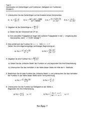 Test zu Grenzwerten von ZF und Funktionen (Kl.11)