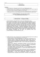 Klassenarbeit (nonverbale) Kommunikation in Kurzgeschichten