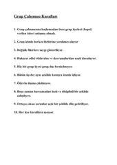 Regeln zur Gruppenarbeit