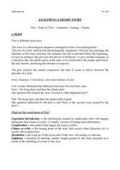 Short Story Analyse längere Fassung