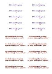 Satzgefüge Spielkarten