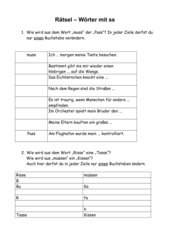 AB - Wörterrätsel