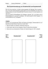 Die Zusammensetzung von Einatmenluft und Ausatmenluft