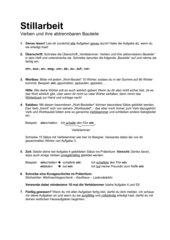 Stillarbeit zu Verben mit abtrennbaren Halbpräfixen