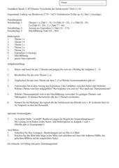 Grundkurs Musik 11 Klausur Beethoven Violinkonzert, Satz 1