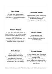 Regelkarten für die Gruppenarbeit
