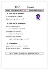 Did...? Eintrag zu Fragen mit did, simple past. HS Kl. 6 Grammar