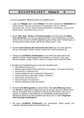 Buchprojekt - Klasse 9