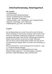 Anleitung Adventsgesteck.