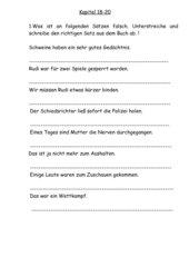 Leseplan Rudi Rüssel Teil 2