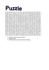 Wörtersuchspiel englische Vokabeln