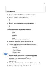 Quiz der drei Schriftreligionen