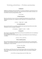 Übersicht: Proben Rechtschreibung Klasse 5