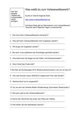 Fragebogen zum Vorlesewettbewerb