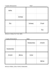 Sudoku (4er) Winterwörter