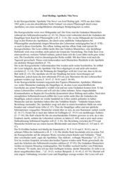 Interpratation der Kurzgeschichte Josef Reding: Apotheke Vita Nova