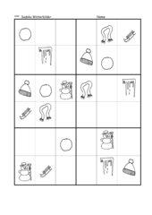 Sudoku mit Winterbildern