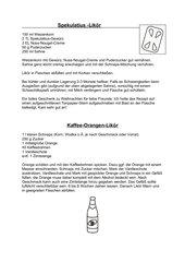 Spekulatius- und Kaffee-Orangen-Likör