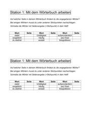 Stationentraining Rechtschreibung