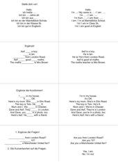 Übungszirkel - einfache Sätze mit