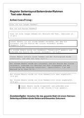 Übung Rahmen und Schattierung, Word 2007