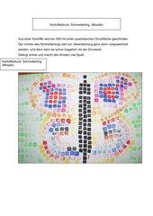 Mosaik: Schmetterling (Kartoffeldruck)