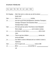 possessive pronouns / possessive determiners