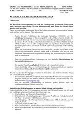 Kundgebung - Hilfe gegen geplante Änderungen der Regierung