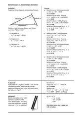 Klapptest-Generator: Berechnungen an rechtwinkligen Dreiecken
