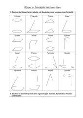 Schrägbilder zeichnen üben