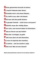 Dies und Das für den Deutschunterricht