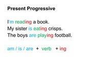 Lernplakat Present Progressive