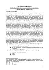 UR-Entwurf: Die Französische Revolution - Erklärung der Menschen- und Bürgerrechte: Vorbild moderner Grundrechte?