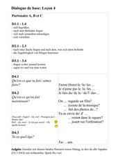Découvertes Cadet 1: Dialogue de base - Leçon 4