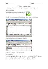 Excel Einführung