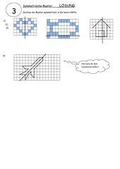 Muster achsensymmetrisch ergänzen