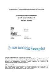 UE Deutsch Klasse 2