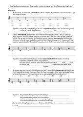 Arbeitsblatt Molltonleiter natürlich / harmonisch - Stufen der harmonischen Molltonleiter
