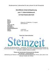 UE Steinzeit Klasse 3 NRW