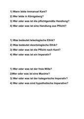 Jeopardy über Kants Pflichtethik